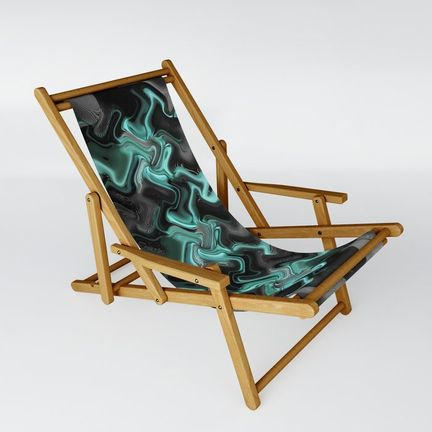 Sling Chair - shadows-in-see-green
