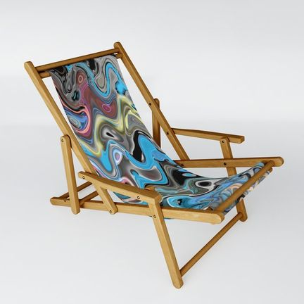 Sling Chair - waves-in-blue