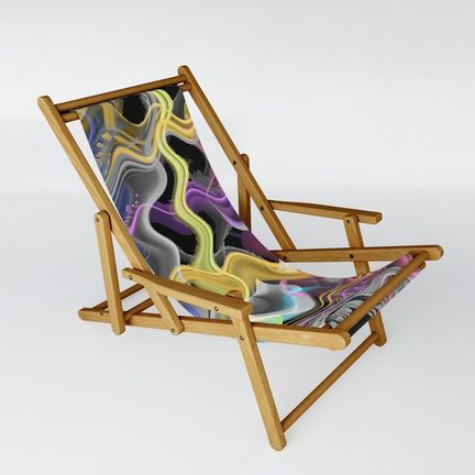 Sling Chair - wavy-in-yellow